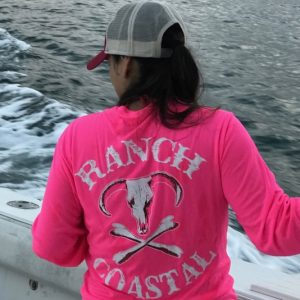 Neon Pink Jolly Roger Bull LS