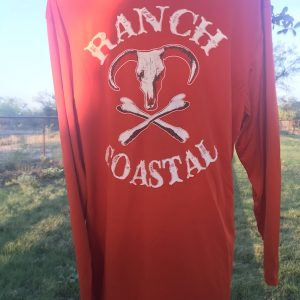 Orange Jolly Roger Bull LS