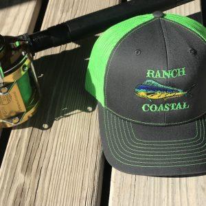 Charcoal/Neon Green Dolphin Cap