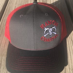 Charcoal and Red JR Bull Cap