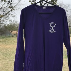 Purple JR Buck Ladies V-Neck