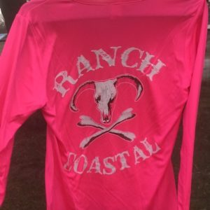 Neon Pink JR Bull Ladies V-Neck