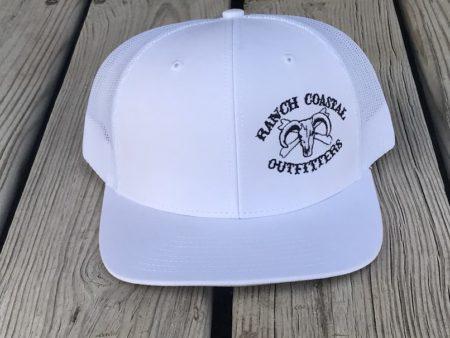 white & white jr bull cap