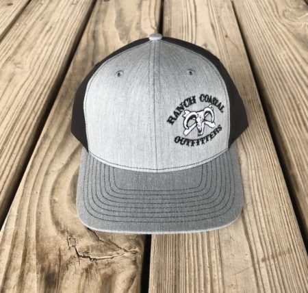 RC gray and black hat